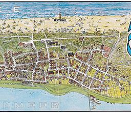 Juist Karte.Das Alte Juist Juist Karte Von 1972